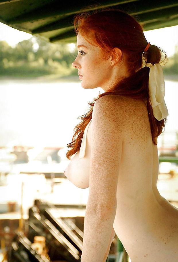 Freckled redhead porn video