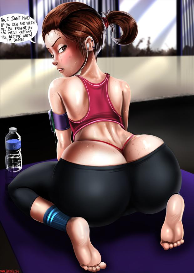 Helen Parr Workout Sweathy - asturbate porn videos in 3gp