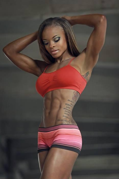 Hot ebony nude girls athletic legs