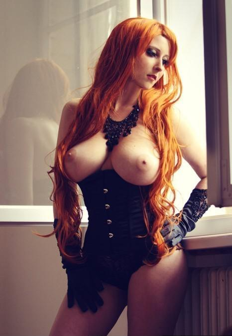 red heads with big boobs