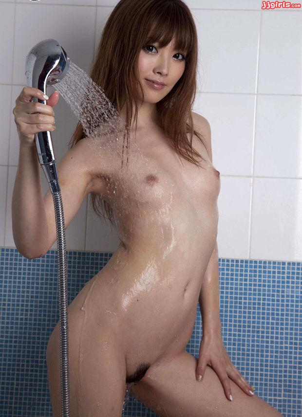The abstract Nude asian girls showering