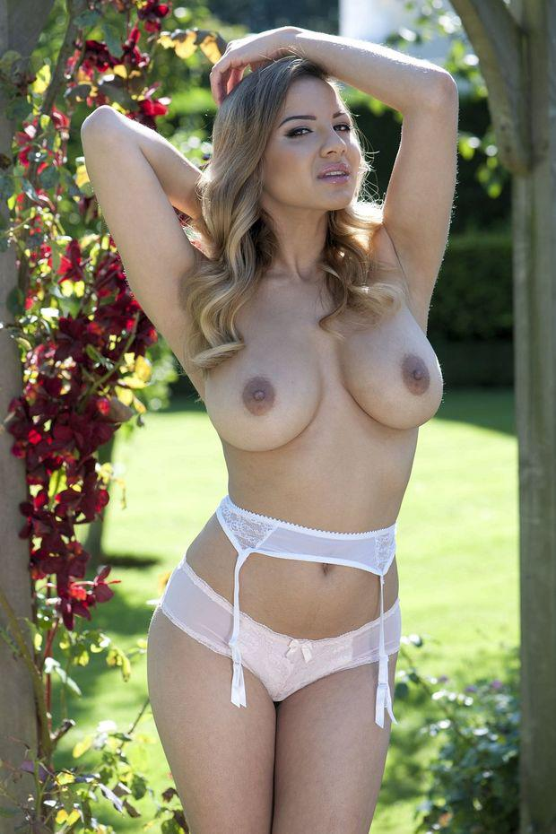 Lacey Banghard outside and topless for Page 3 - babes in ...
