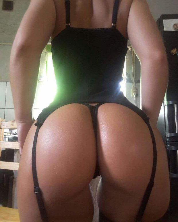 Big Fat Black Oiled Ass