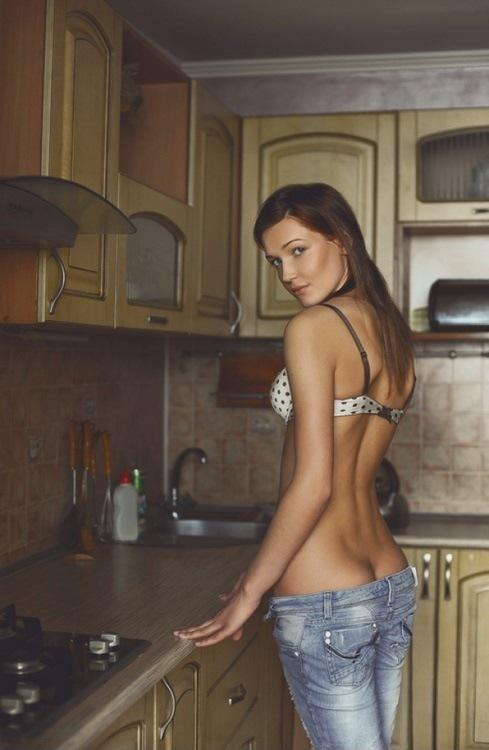 Sexy brunette kitchen sex apologise, but