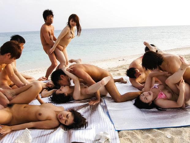 japanese beach orgy
